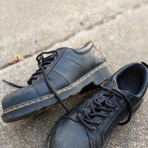 Dr. Martens Black Leather Steel Toe Oxfords 7M